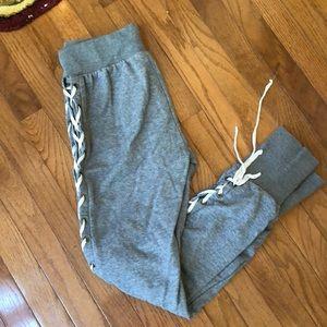 Lace up side sweatpants